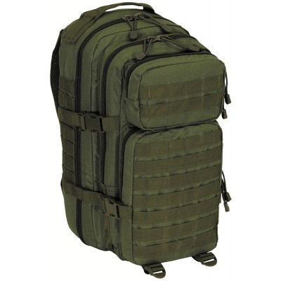 "US rugzak, Assault I, ""Basic"", groen 30 liter 30328B"
