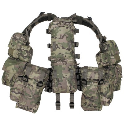 Tactisch vest, diverse zakken, operation camo  30993X